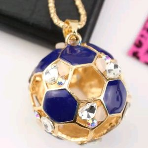 Betsey Johnson Rhinestone Soccer ball Pendant